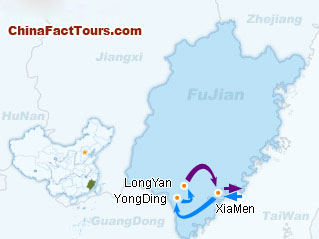 Fujiang Tulou Tourist Map Guide