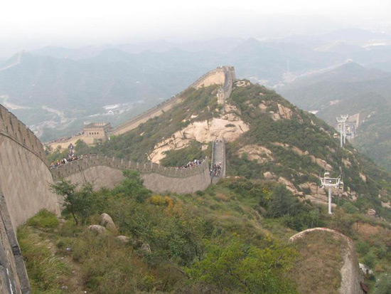 View of Badaling Great Wall