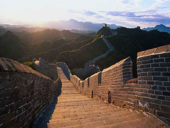 Badaling Great Wall in Dusk