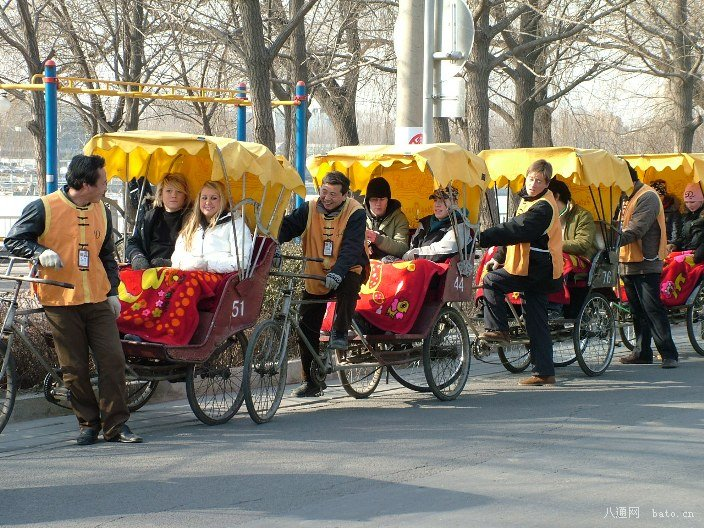 Rickshaw in Beijing Hutong