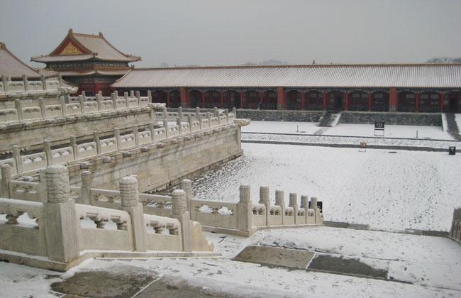 Corridor in Forbidden City