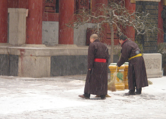 Monks in Lama Temple