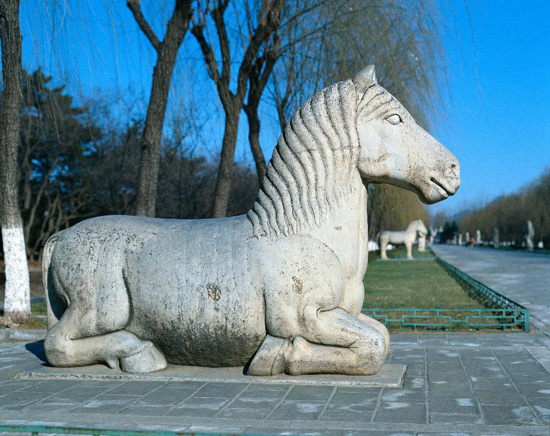 Horse Sculpture in Ming Tombs
