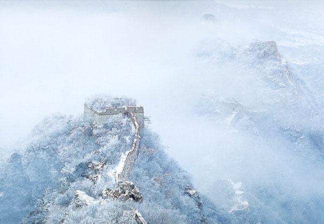 Mutianyu Great Wall in Clouds
