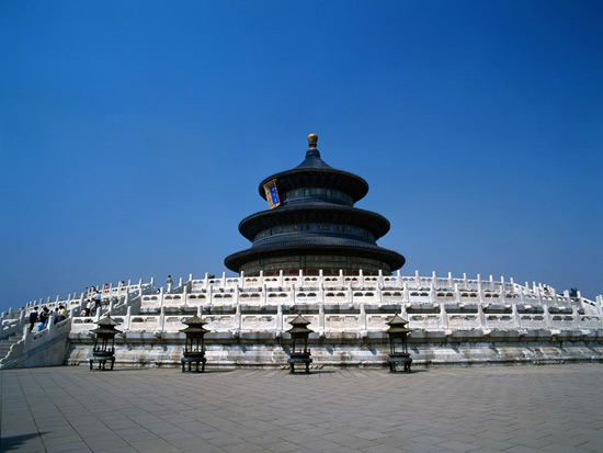 The Temple of Heaven under Blue Sky
