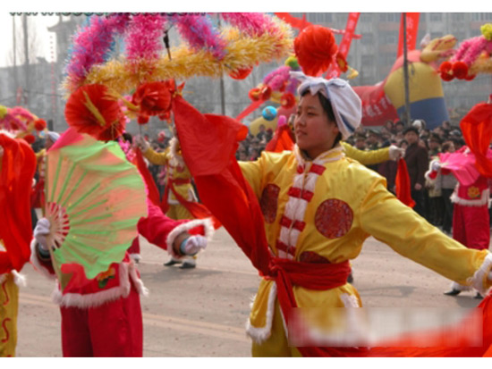 Chinese Dances-yangko,a popular Chinese rural folk dance