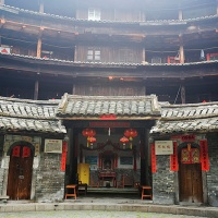 Huanji Lou, Fujian Earth Building Photos