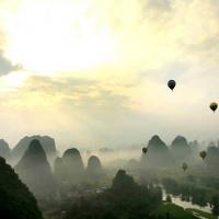 Guilin China  Hot Air Balloon