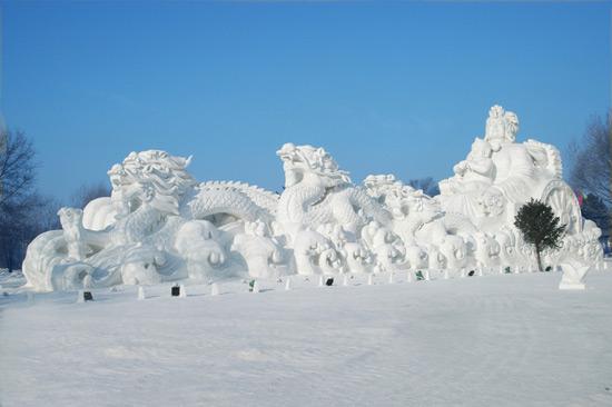 Harbin sun island sculptures