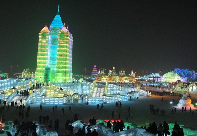 Ice and Snow World winter