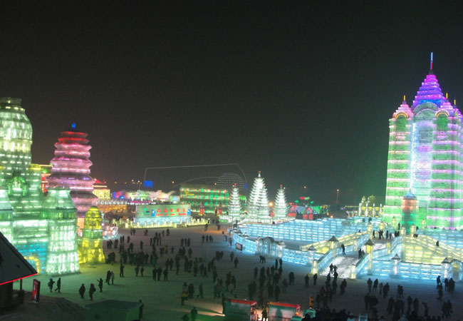 Ice and Snow World,China Winter Travel Images