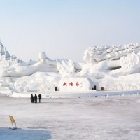 sun island snow sculptures