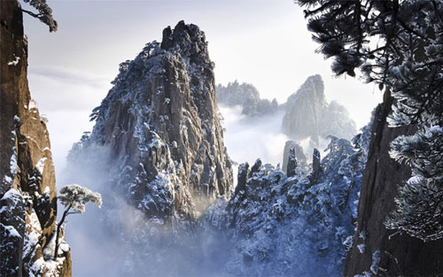 Huangshan in winter