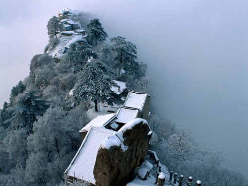 Mountain Huangshan in winter