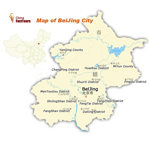 Map of Beijing, China Beijing Map, Peking China