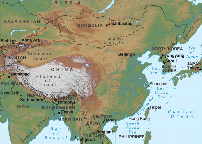 China Map, China in Asia