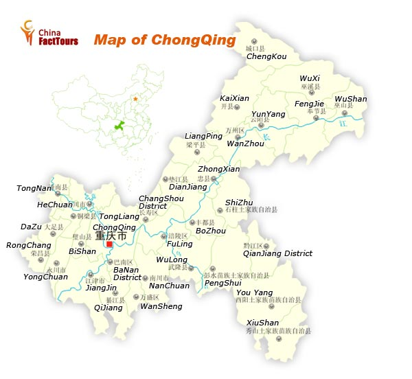 Map of Chongqing, Map Chongqing, Chongqing China