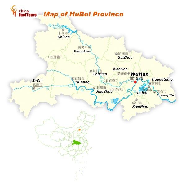Map of Hubei, Map Hubei, china Hubei Wuhan
