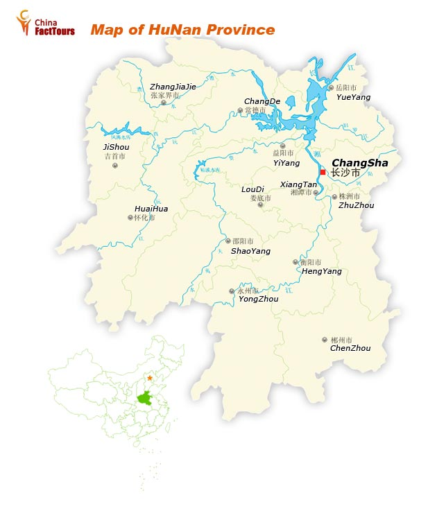 Map of Hunan, Hunan Map, Hunan China