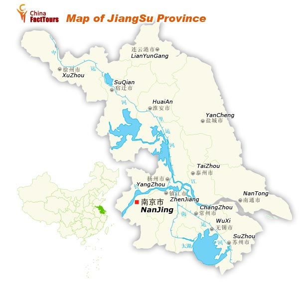 Map of Jiangsu, Map Jiangsu, China Jiangsu