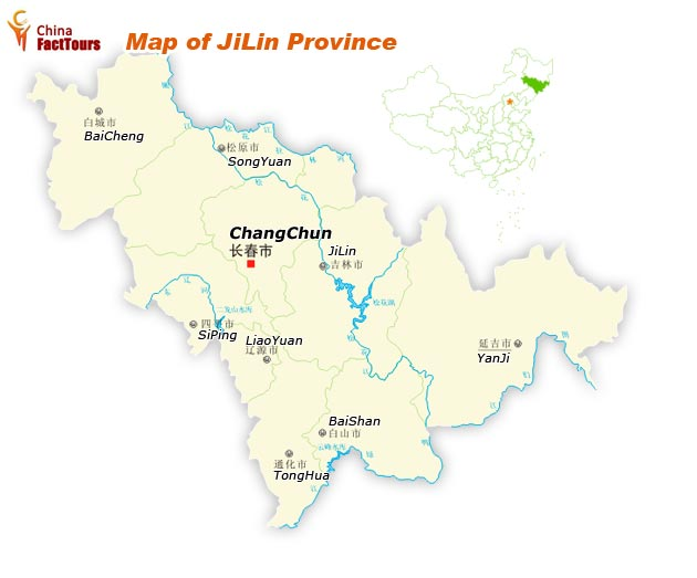 Map of Jilin, Jilin Province Map, Jilin China