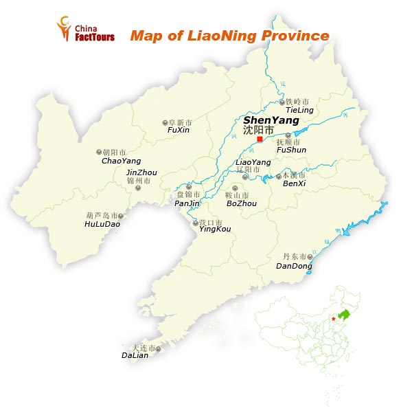 Map of Liaoning, Liaoning Map, China Liaoning