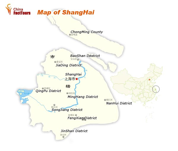 Map of Shanghai, Map China Shanghai