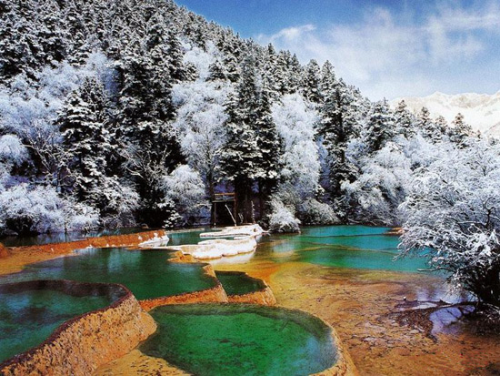 Jiuzhaigou Nature Reserve  Sichuan