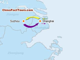 Suzhou Shanghai Travel Map