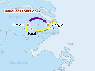 Shanghai Suzhou Map