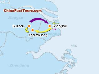 Suzhou Shanghai Tour Map