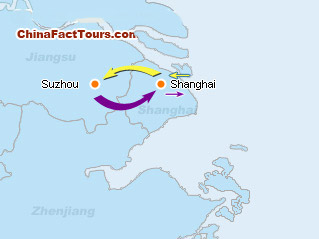Shanghai Suzhou Tourist Map