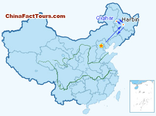 4-Day Heilongjiang Tour Map