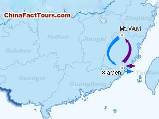 Fujian Tourist Map