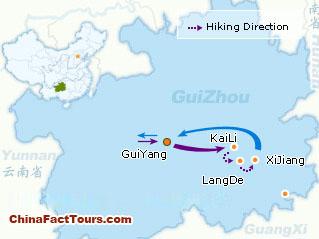 Map of Guizhou Tour,Guizhou Touring Map