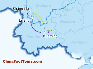 Shangri-la,Zhongdian Tourist Map