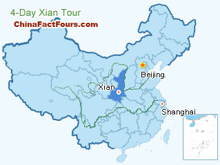 Xian City Tour Map