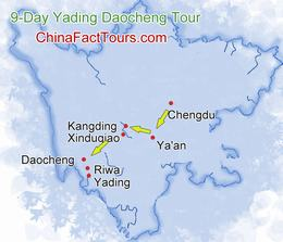 Yading Daocheng Map