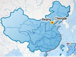 Beijing,Chengde Tourist Map