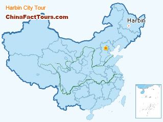 Harbin Tour Map,Touring map of Harbin
