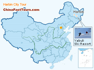harbin travel map