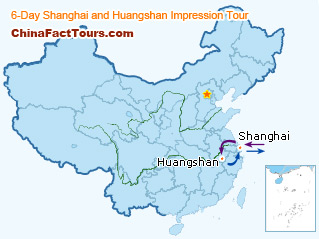 Map of Huangshan, Huangshan Touring Map