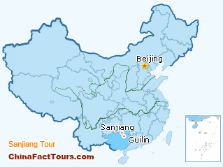 Guilin,  Longsheng,Sanjiang, Yangshuo Tourist Map