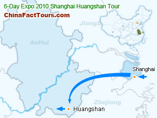 Shanghai 2010 EXPO Tourist Map