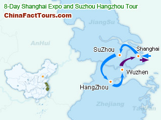 Shanghai 2010 EXPO Tourist Map
