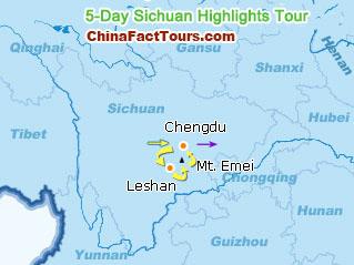 Chengdu Leshan Tourist Map