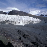 The glacier in Geladandong, the water source of the Yangtze