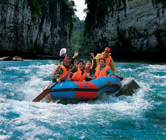 Rafting in the Maoyan River, Zhangjiajie Hunan